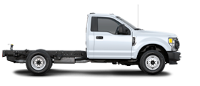 Ford F 3 50 Super Duty 2021 châssis-cabine en blanc Oxford